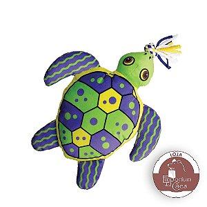 Kong Aloha Turtle - Tartaruga de Pelúcia para Cães - Tamanho MÉDIO