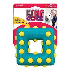 Kong Dotz Square - Brinquedo de Borracha para Cães - Tamanho GRANDE