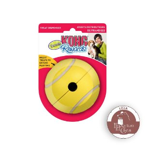 Kong Rewards Tennis - Bola Interativa que Libera Alimento para Cães - GRANDE