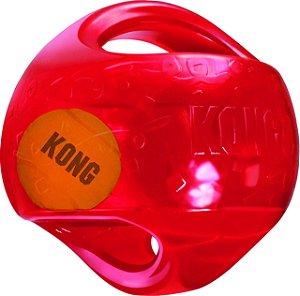 Kong Jumbler Ball - Brinquedo Gigante para Cães - Bola com Alça e Bola Dentro