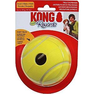 Kong Rewards Tennis - Bola Interativa que Libera Alimento para Cães - PEQUENA