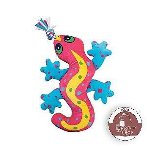 Kong Aloha Gecko - Lagartixa de Pelúcia para Cães - Tamanho PEQUENO