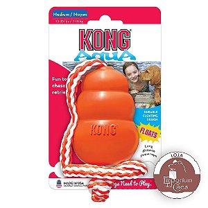 Kong Aqua - Brinquedo para Cães que Flutua na Água - Tamanho MÉDIO
