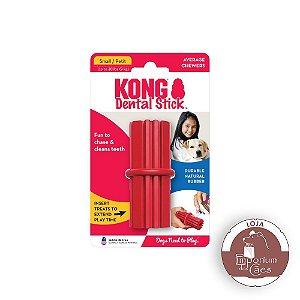 Kong Dental Stick - Brinquedo de Borracha Vermelha - PEQUENO