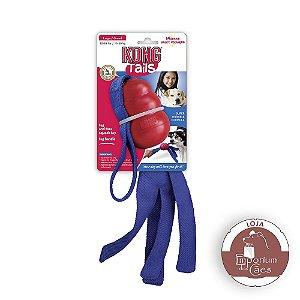 Kong Tails - LARGE - Brinquedo de Borracha e Tecido para Cachorro