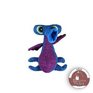 Kong Woozler Blue - Alienígena de Pelúcia para Cães - Tamanho MÉDIO