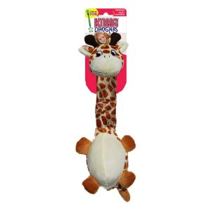 Kong Danglers Giraffe - Girafa Pescoçuda de Tecido Balísco e Pelúcia