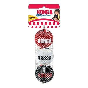 Kong Signature Balls SPORT - Pacote com 3 bolas - Tamanho: MÉDIO