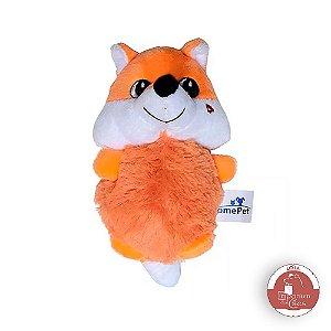 Brinquedo de Pelúcia Para Cães e Gatos - Raposa Laranja