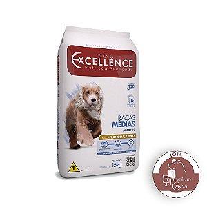 Dog Excellence Adulto Raças Médias - HI-PREMIUM - 15kg - Frango e Arroz