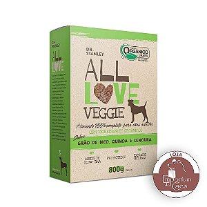 All Love - Ração Orgânica para Cães Veggie | Grão de Bico, Quinoa & Cenoura