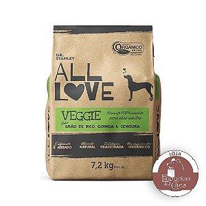 All Love - Ração Orgânica Para Cães Veggie | Grão de Bico, Quinoa & Cenoura 7,2kg