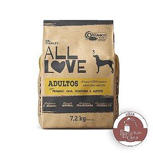All Love - Ração Orgânica para Cães Adultos | Frango, Chia, Cenoura & Azeite 7,2kg
