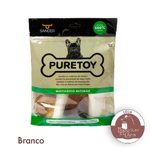 Kit Raças Pequenas e Médias - PURETOY - Mordedores Naturais Variados para Cachorros