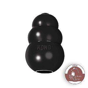 Kong Extreme - Brinquedo Recheável de Borracha Preta - Para Cães com Mordidas Potentes