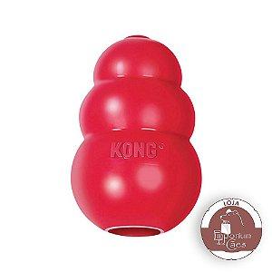Kong Clássico - Brinquedo Recheável de Borracha Vermelha