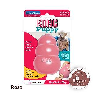 Kong Puppy MEDIUM - Brinquedo Recheável Para Filhotes MÉDIOS