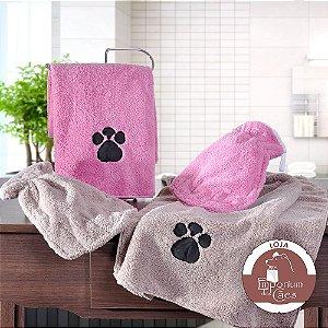 Luva para Dar Banho em Cachorro Em Microfibra