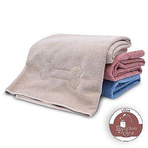 Toalha de Banho para Cachorro em Microfibra - Tamanho: G (72cm X 1,12m)