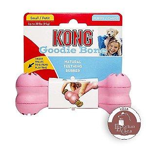 Kong Puppy Goodie Bone  SMALL - Brinquedo Recheável Para Filhotes PEQUENOS