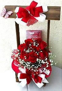 Rosas com Chocolate