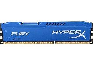 Memória Kingston HyperX Fury 8GB 1600MHz DDR3 Blue Series HX316C10F/8