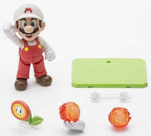 S.H.Figuarts -  Mario Fire + Playset D - 2 PACK