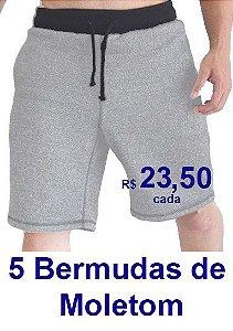 PROMOÇÃO - Pacote com 5 Bermudas Moletinnho R$ 23,50 CADA - Tamanhos do P ao GG