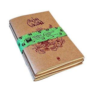 Coleção de Cadernetas - Pra Fora da Cachola - sketchbook