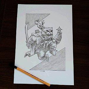 Originais Inktober 2018 - Desenhos de 8 a 14