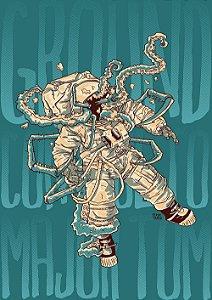 PRINT - Astronauta - Tamanho A4 - NÃO ACOMPANHA MOLDURA