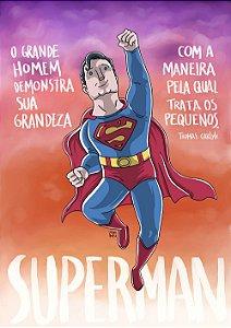 PRINT - Superman - NÃO ACOMPANHA MOLDURA
