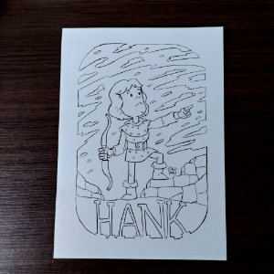 Arte original - Hank - Caverna do Dragão