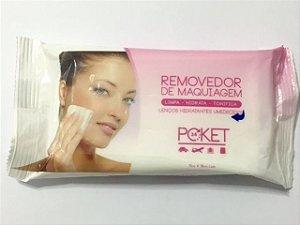 Lenço removedor de maquiagem Poket c/ 15 UN - Ruby Rose