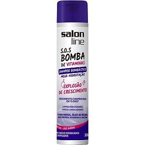 Shampoo Bombástico S.O.S Bomba Mega Hidratação Explosão de crescimento Salon Line 300 ml