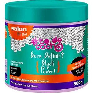 Definidor de Cachos #TodeCacho Bora Definir Black é Power Salon Line 500g