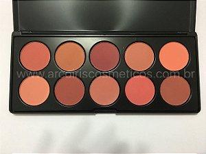 PROMOÇÃO - Paleta de Blush 10 Cores Luisance L781