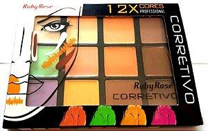 Paleta de Corretivo 12x Cores - Ruby Rose - Cor 2 HB-8087