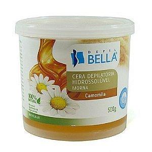 Cera Depilatória Hidrossolúvel Morna Depil Bella - Camomila - Pote 500gr