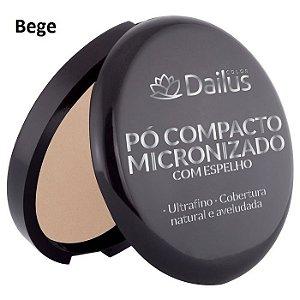 Pó compacto micronizado com espelho - Dailus COLOR