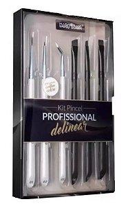 Kit Pincel Profissional Para Delinear - Wb700 - Macrilan - PROMOÇÃO