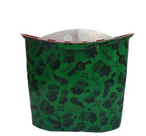 Porta Pincel Com Divisão - Verde com estampa Dos Minions