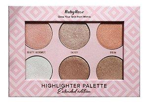 Paleta De Iluminador - Highlighter Extended Edition - Ruby Rose - PROMOÇÃO