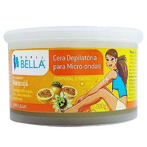 Cera Depilatória Para Micro-Ondas Depil Bella Maracujá - 200g