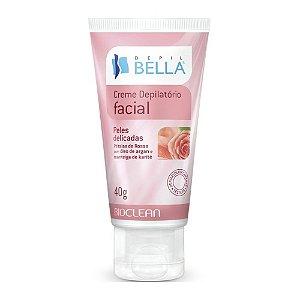Creme Depilatório Facial - Pétalas de Rosas - Pele delicadas - 40g DEPIL BELLA