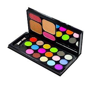 Kit Maquiagem com Sombra Fosca Jasmyne CR9001