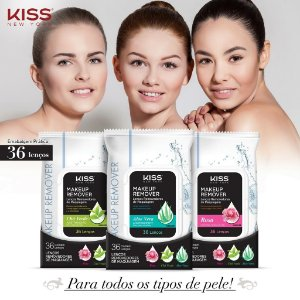 LENÇOS REMOVEDORES DE MAQUIAGEM  - KISS NEW YORK  MAKE UP REMOVER