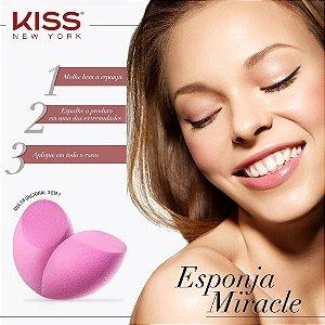 Esponja Miracle - Esponja de maquiagem multifuncional 3 em 1 - KISS NEW YORK