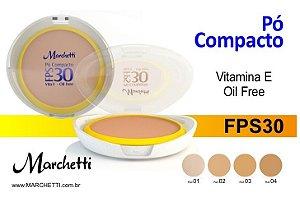 PÓ COMPACTO FPS 30 VITAMINA E OIL FREE MARCHETTI - PROMOÇÃO