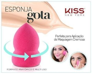 Kiss New York Esponja Make Up Gota MUS01BR